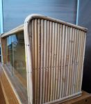 petit vitrine osier 1950