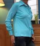 chemise bleu azure T36-38 vintage retro année 70