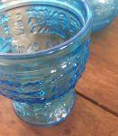 Service orangeade bleu vintage origine Italie