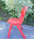 série de 6 chaises rouges