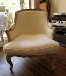fauteuils bergère modernes blanc cassé