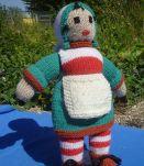 Poupée Bécassine en tricot vintage