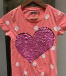 T-shirt DESIGUAL paillettes 11-12 ans comme neuf