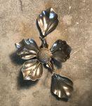 Cendrier fleur argenté 100% vintage