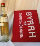 Set BYRRH bouteille+carte vintage