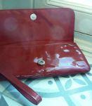 Pochette vernis rouge style vintage