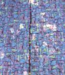 50/60's Tissu imprimé rouge gris noir FORMES LIBRES Design