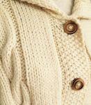 Superbe veste laine tricotee main t40