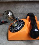 LAMPE RECUP' VINTAGE TELEPHONE ORANGE