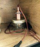 Lampe vintage fait main