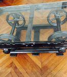 Table basse wagonnet de mine