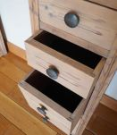 Console à deux colonnes en bois