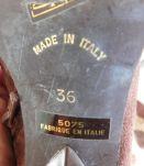 Bottes vintage daim marron