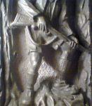 Plaque métal de chasse