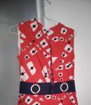 Robe vintage/Années 60 motif géométrique