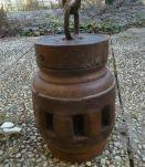 Lampe sur moyeu de roue de charette