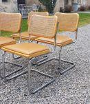 4 chaises marcel breuer b32 cesca