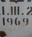 panneau sens  interdit ancien de 1969
