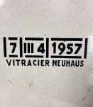 Plaque émaillée Neuhaus 1957