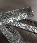 8 Porte Couteaux vintage en cristal au plomb 24%