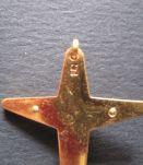 belle Croix vintage cross religious en plaqué or FAB FRANCE