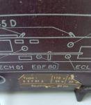 ancien poste de radio Philips B3X de 1956