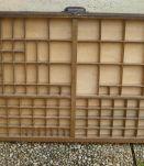 casier d'imprimerie  ancien  en bois