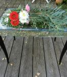 très jolie table en miroir vintage