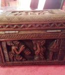coffret bois sculpté boite