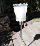 Lampe glaçon verre/ inox vintage années 50