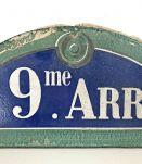 Plaque de Paris en Pierre XIXème / début XXème