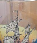 Carafe à wisky 1960 en verre ambré et son verre