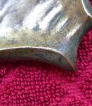 Vide poche en bronze époque Art Déco signé baugien.