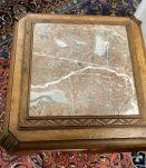 Sellette Art déco en hêtre et dessus marbre