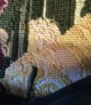 Housse coussin brodé main petit-point, pure laine DMC 42x42