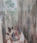 """Gouache et aquurelle """"souvenirs d'Alger"""" signée"""
