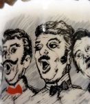 Tasse en faïence 4 personnages