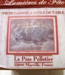 Vintage ; deux lampes à huile Le Père  Pelletier