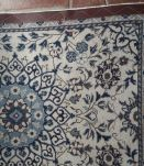 Tapis de couloir Persan Nain bleu beige