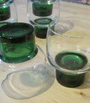 6 verres a vin  1970 vintage