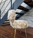 Chaise moumoute Pelfran de 1960 déhoussable