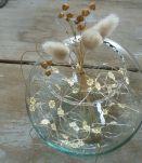 Vase boule ancien en verre soufflé