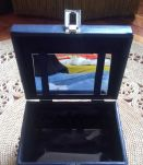 Vanity case vintage bleu marine