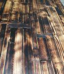 enfilade acier scandinave type industriel   plateau en bois