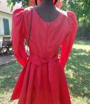Robe  de cérémonie vintage rouge Taille 40 cintrée,  manches