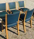 Lot de 6 chaises édition STEINER modèle bow wood