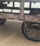 chariot vintage industriel table basse