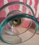 Isolateur électrique vintage haute tension verre