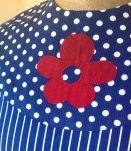 Robe bleue 60's  marque HEKO le signe de Paris
