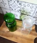 Pots apothicaire ou bocal vert et transparent